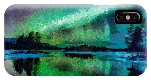 Sunset In Lapland Aurora Borealis IPhone Case