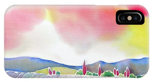 Sunset On The Lavender Farm IPhone Case