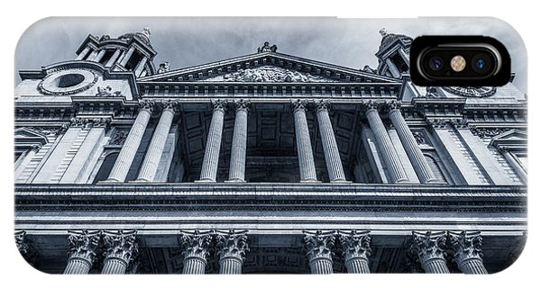 The Columns Of St Paul's Cathedral West Facade From Ludgate Hil IPhone Case