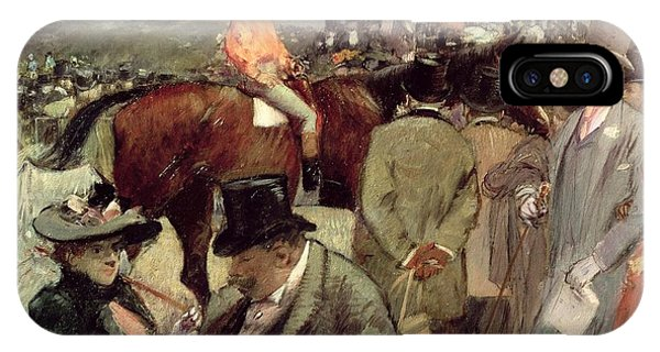 Coat iPhone Case -  The Horse Race by Jean Louis Forain