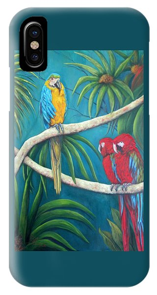 Three Is A Crowd,macaws IPhone Case
