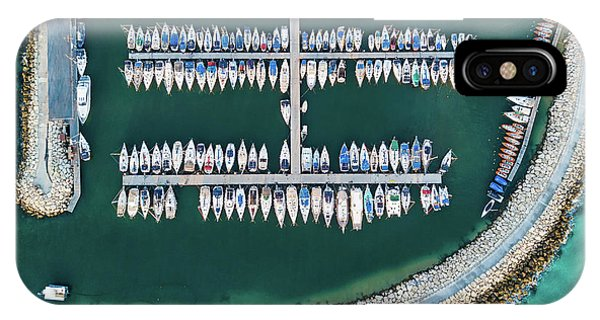 Docked Boats iPhone Case - @ Tlv Marina by Ofer Maor