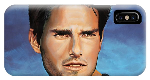 Back iPhone Case -  Tom Cruise by Paul Meijering