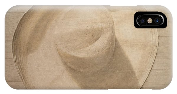 Travelling Hat On Dusty Table IPhone Case
