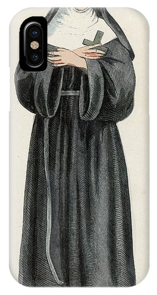 Ursuline Nun Devoted To Saint Ursula Phone Case by Mary Evans Picture Library