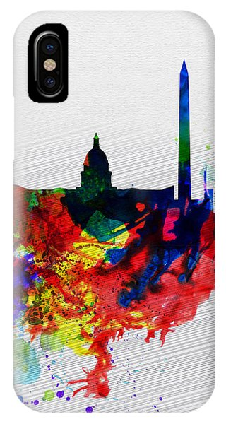 Washington Dc Watercolor Skyline 1 IPhone Case