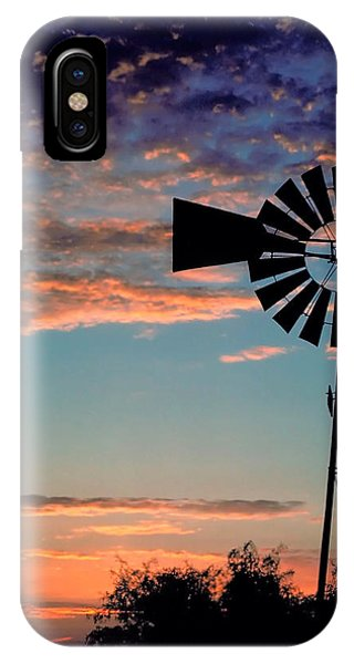 Windmill At Dawn IPhone Case