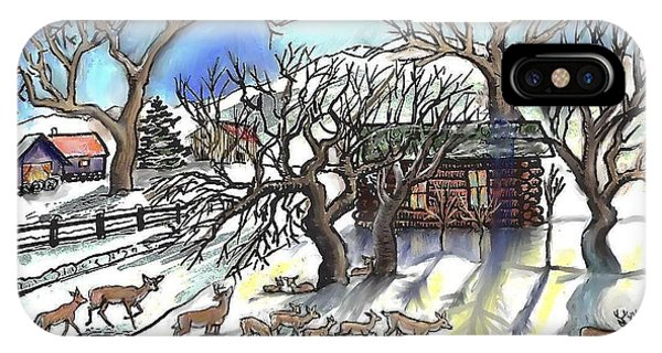Wyoming Winter Street Scene IPhone Case
