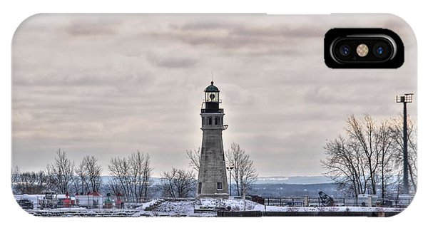 01 Winter Light House IPhone Case