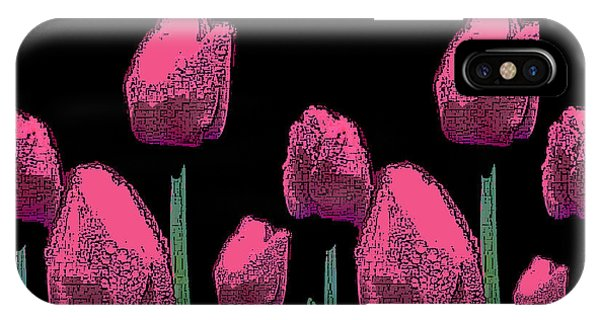 010 Hot Pink Tulips 2a IPhone Case