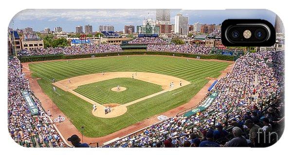 0100 Wrigley Field - Chicago Illinois IPhone Case