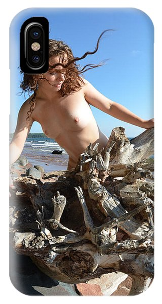 0114 Windswept Nude In Nature  IPhone Case