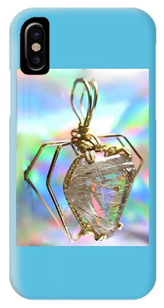 0216 Golden Needles IPhone Case
