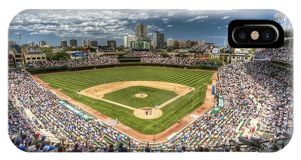 Chicago iPhone Case - 0234 Wrigley Field by Steve Sturgill