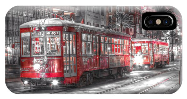 0271 New Orleans Street Car IPhone Case