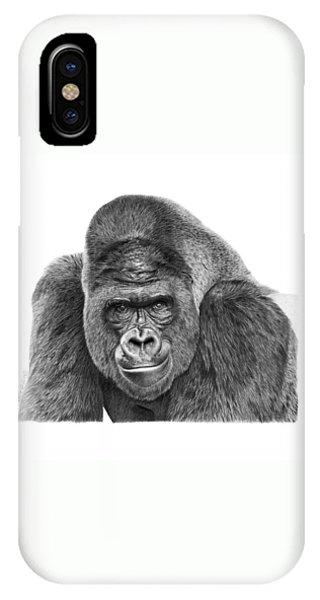 042 - Gomer The Silverback Gorilla IPhone Case