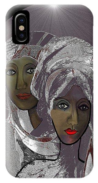 065 - White Veiled Ladies   IPhone Case