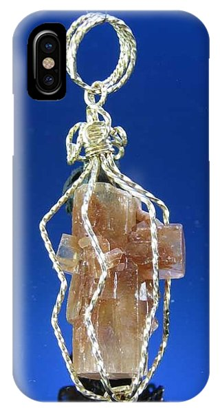 0658 Caged Crystal IPhone Case