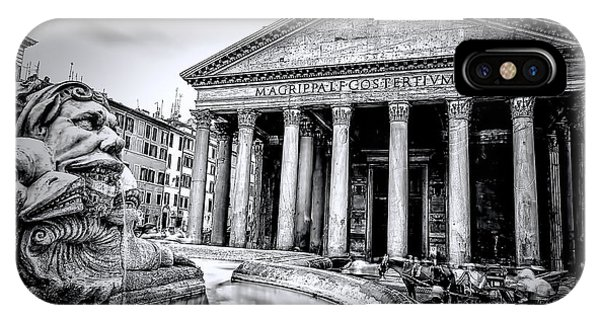 0786 The Pantheon Black And White IPhone Case
