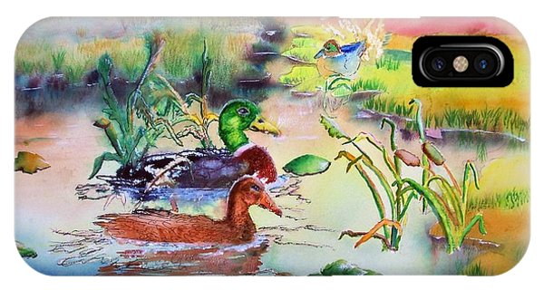 082814 Mallards At Dawn IPhone Case