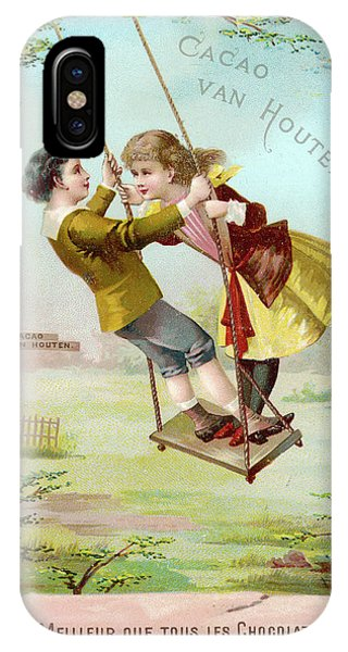 A Boy And A Girl Swing  Together Phone Case by Mary Evans Picture Library