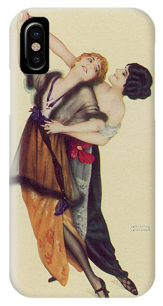 Two Stylishly Dressed Ladies  Dance Phone Case by Mary Evans Picture Library