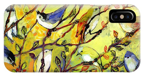 Rainbow iPhone Case - 16 Birds by Jennifer Lommers