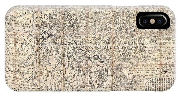 iPhone Case - 1710 First Japanese Buddhist Map Of The World Showing Europe America And Africa by Paul Fearn