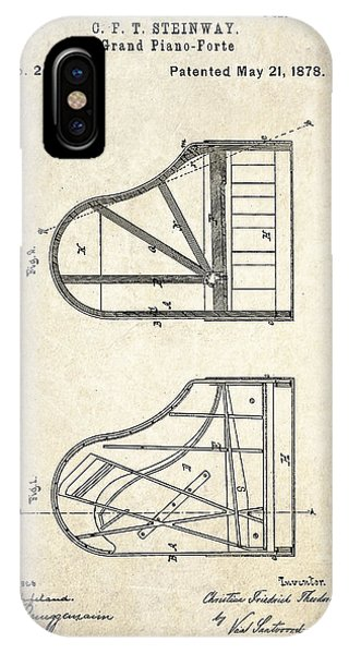 1878 Steinway Grand Piano Forte Patent Art S. 1 IPhone Case