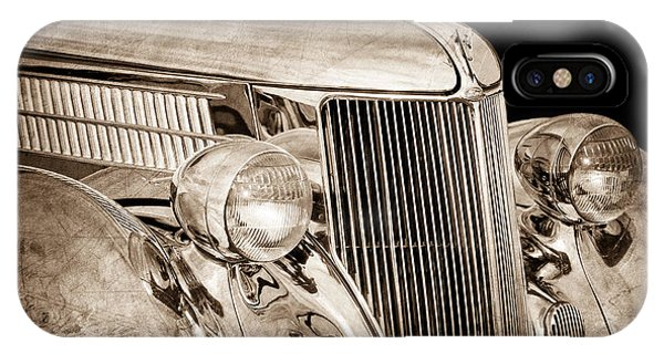 Stainless Steel iPhone Case - 1936 Ford - Stainless Steel Body by Jill Reger