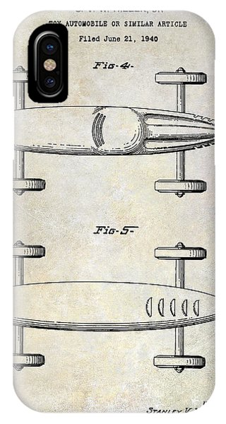 1940 Toy Car Patent Drawing IPhone Case