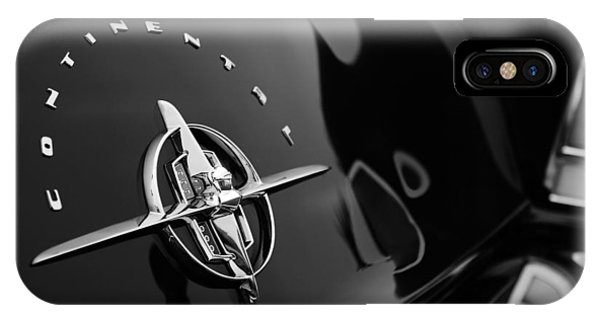 Lincoln Continental iPhone Case - 1956 Continental Mark II Coupe Rear Emblem by Jill Reger