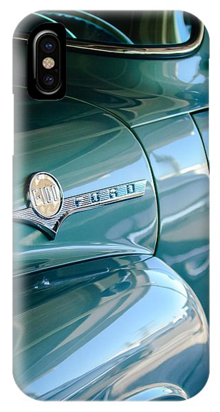 100 iPhone Case - 1956 Ford F-100 Truck Emblem by Jill Reger