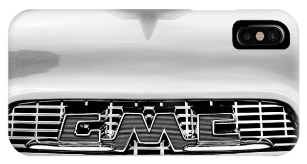 100 iPhone Case - 1956 Gmc 100 Deluxe Edition Pickup Truck Hood Ornament - Grille Emblem by Jill Reger