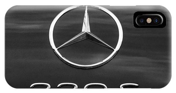 1958 iPhone Case - 1958 Mercedes-benz 220s Cabriolet Emblem by Jill Reger