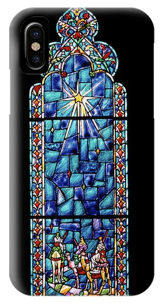 1960s Stained Glass Window Design IPhone Case