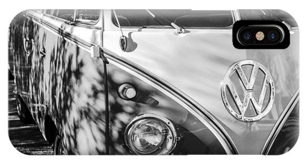 1961 Volkswagen Vw 23-window Deluxe Station Wagon Emblem IPhone Case