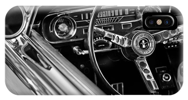 IPhone Case featuring the photograph 1965 Shelby Prototype Ford Mustang Steering Wheel by Jill Reger