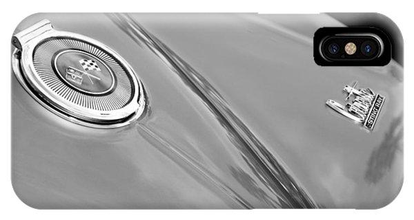 Coupe iPhone Case - 1966 Chevrolet Corvette Coupe Emblems by Jill Reger