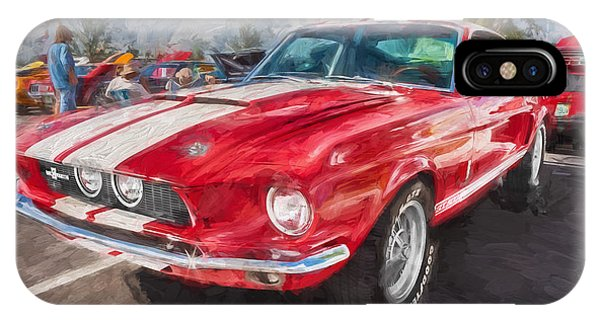 1967 Ford Shelby Mustang Gt500 Painted  IPhone Case