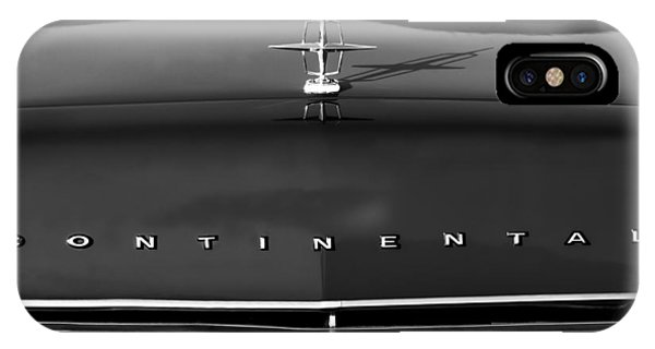 Lincoln Continental iPhone Case - 1967 Lincoln Continental Hood Ornament Grille Emblem by Jill Reger
