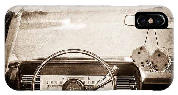 Lincoln Continental iPhone Case - 1967 Lincoln Continental Steering Wheel by Jill Reger
