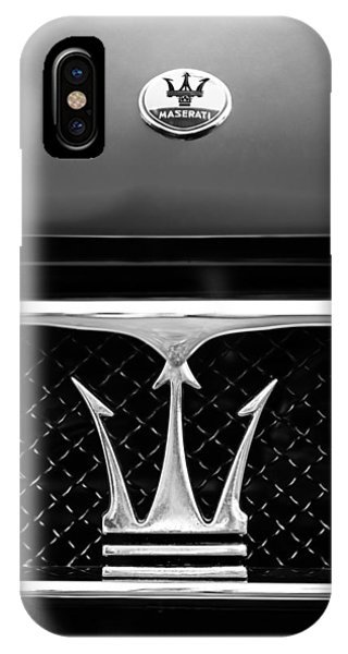 Coupe iPhone Case - 1967 Maserati Ghibli Grille Emblem by Jill Reger