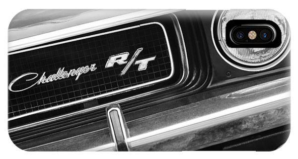 IPhone Case featuring the photograph 1970 Dodge Challenger Rt Convertible Grille Emblem by Jill Reger