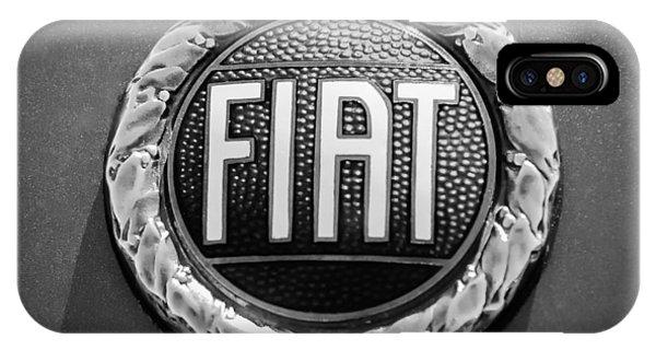 1972 iPhone Case - 1972 Fiat Dino Spider Emblem by Jill Reger