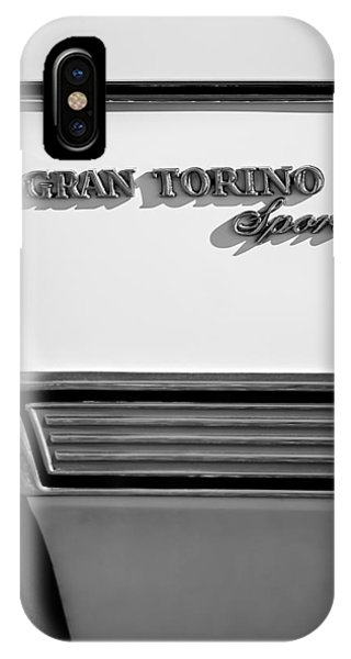 1972 iPhone Case - 1972 Ford Gran Torino Sport Emblem by Jill Reger