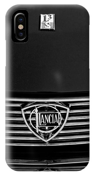 1972 iPhone Case - 1972 Lancia Fulvia 1.3s S2 Grille Emblem by Jill Reger