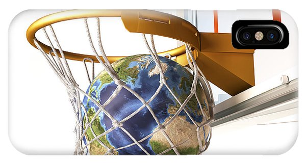 Achievement iPhone Case - 3d Rendering Of Planet Earth Falling by Leonello Calvetti