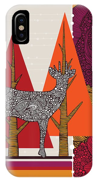 Deer iPhone Case - A Deer In Woodland by Valentina Ramos
