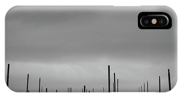 Simple Landscape iPhone Case - A Forest Of Pillars by George Digalakis